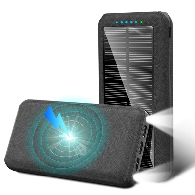 New age 20000mah portable charger wireless waterproof solar power bank charger solar power bank 26800mah