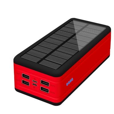 High capacity lamp solar mobil phone charge 50000mah powerbank 4 usb port cargador solar charger power banks 50000mah